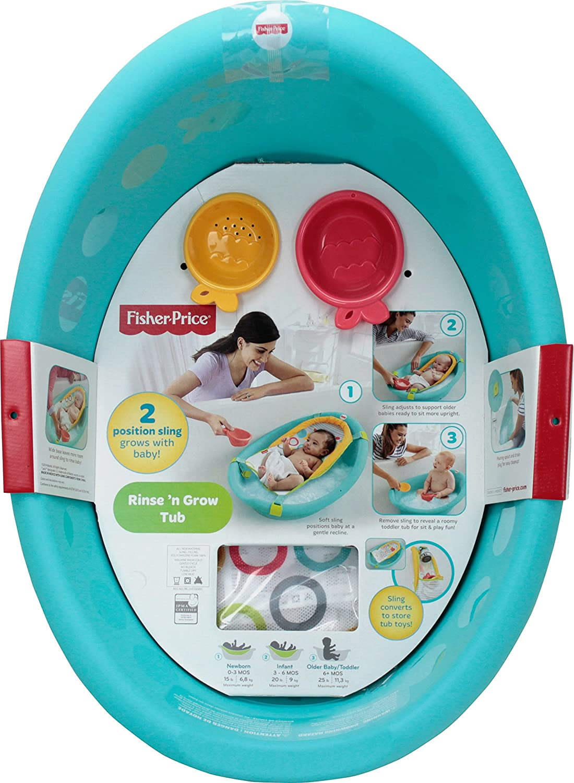 Amazon.com : Fisher-Price Rinse \'n Grow Tub : Baby