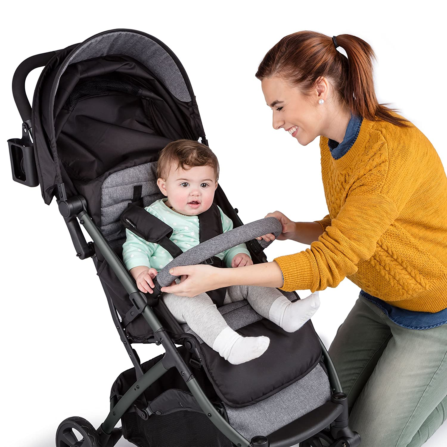Summer Infant 3Dpac CS+ Compact Fold Stroller, Ash Gray 32723