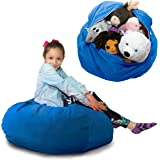 Stuffed Animal Storage Bag (Large) Doubles As a Comfy Chair. Replace Your Mesh Toy Hammock or Net with our Plush Organizer that's Decorative, Functional, Fun.