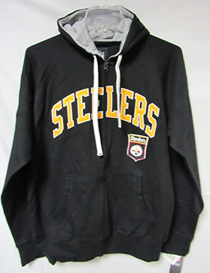 NFL Pittsburgh Steelers Men s Full Zip Color Block Fleece decorated with  tackled twill ce4d1f9e0