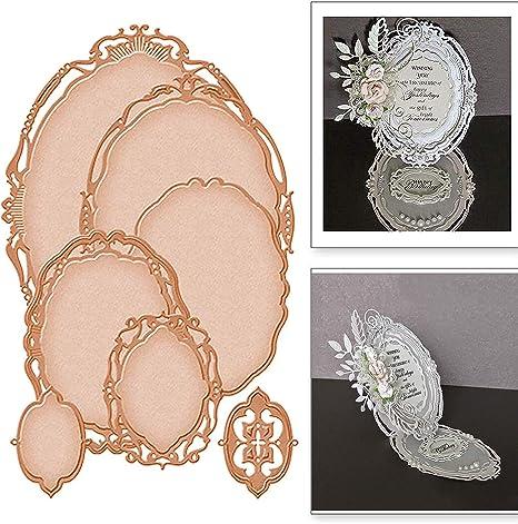 oval lace frame metal cutting dies scrapbook paper craft card photo album making