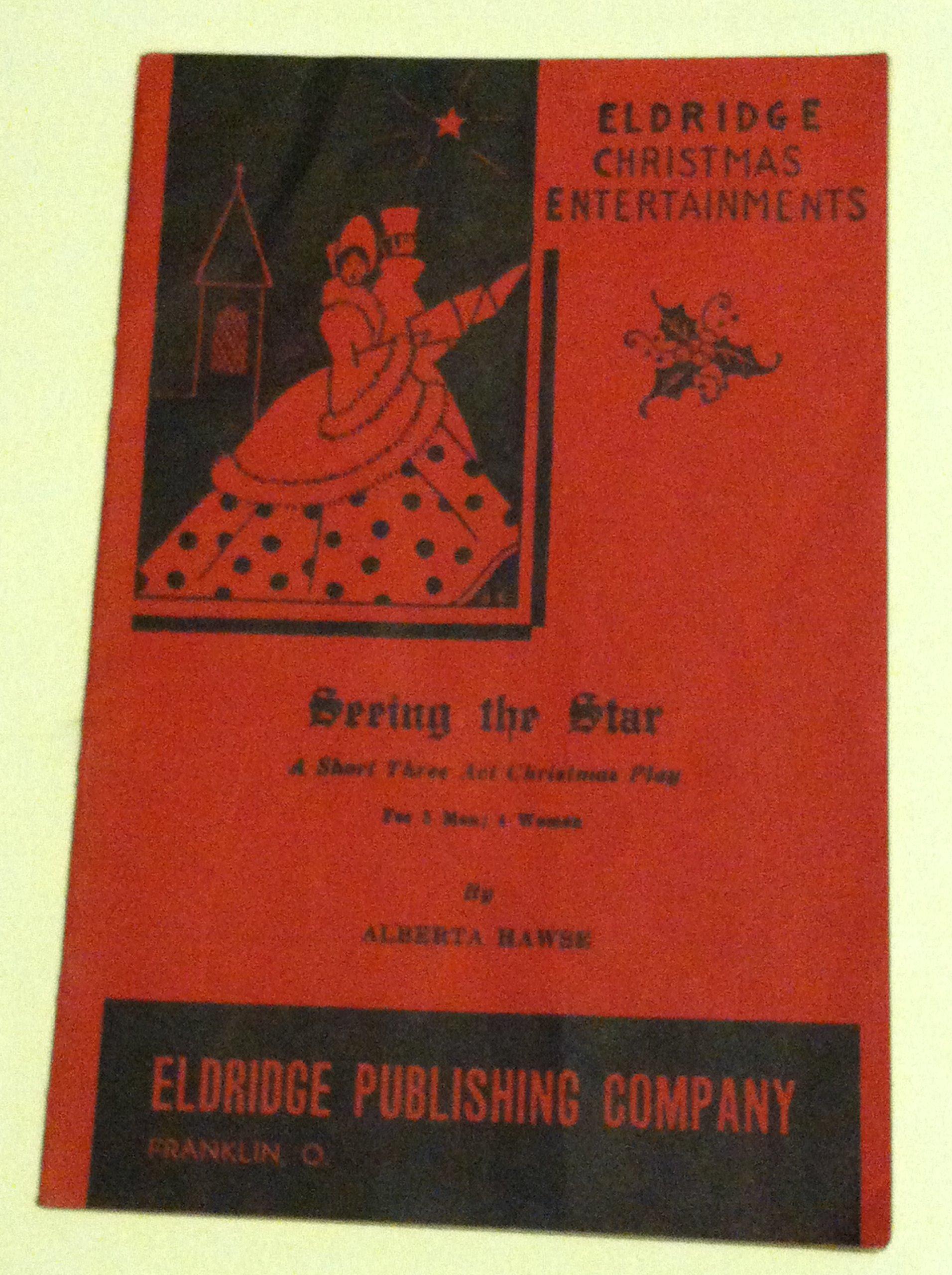Short Christmas Play.Seeing The Star Eldridge Christmas Entertainments A Short