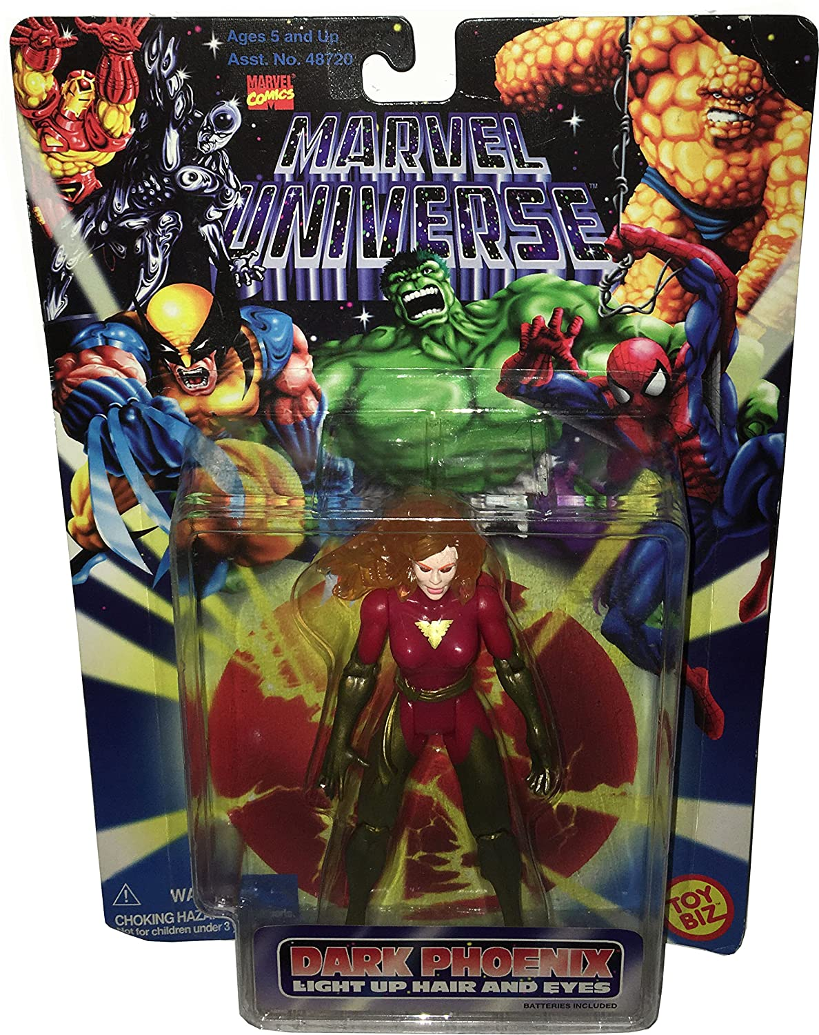MARVEL UNIVERSE Actionfigur DARK PHOENIX w. Light Up Hair and Eyes