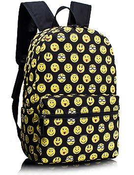 Leaper Emoji los niños mochila escolar mochila para la escuela recorrido al aire libre: Amazon.es: Equipaje