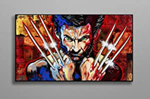 Wolverine Claws Illustration Poster Print Canvas Poster Wall Decor Art Wall Art Print Gift Poster Unframed Printing Size - 11