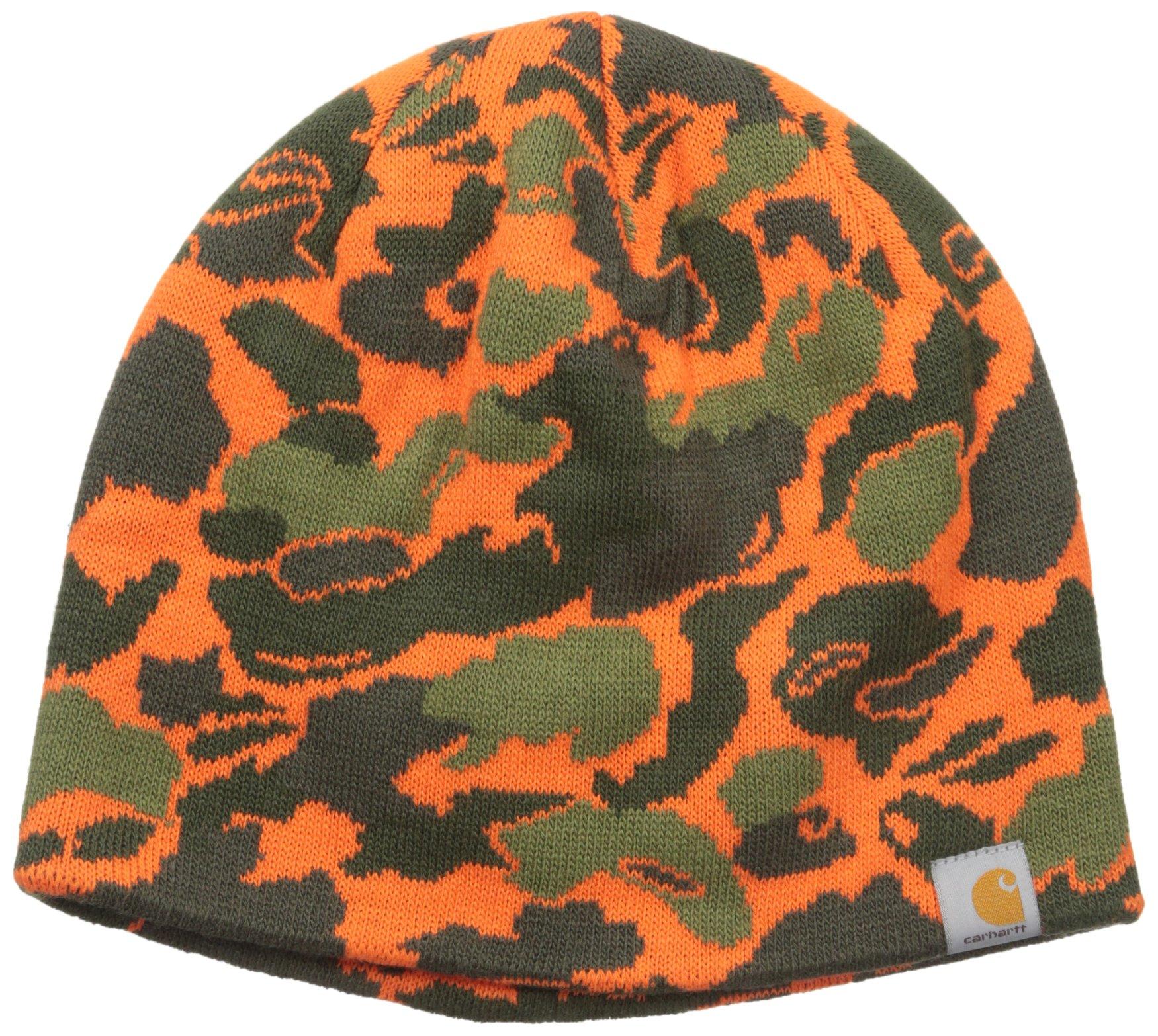 Carhartt Men's Montgomery Reversible Hat, Blaze Duck Camo, One Size