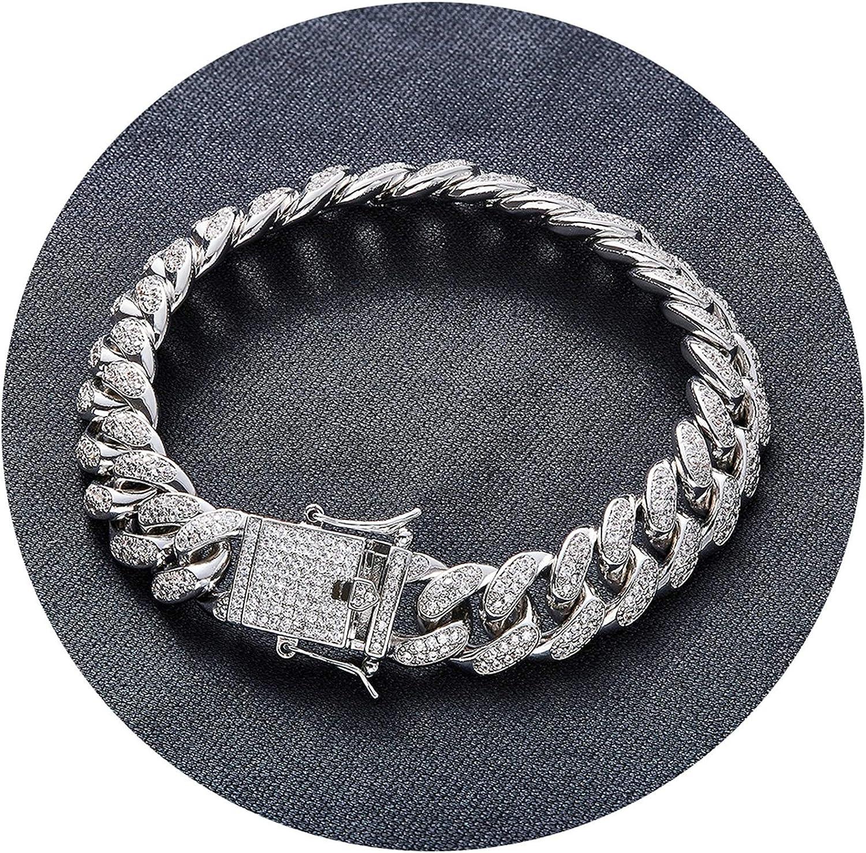 Aokarry Link Bracelet-Wedding Bracelet Bangle Copper Curb Chain n Silver Length 8 in