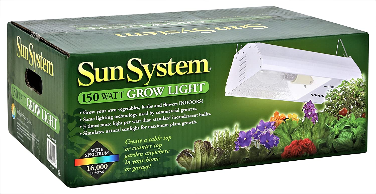 Amazon.com  Sun System Grow Lights - HPS 150W Complete System with Ultra Sun L& - HPS Plug and Play Grow L& For Hydroponics and Greenhouse Use  Garden ...  sc 1 st  Amazon.com & Amazon.com : Sun System Grow Lights - HPS 150W Complete System ... azcodes.com