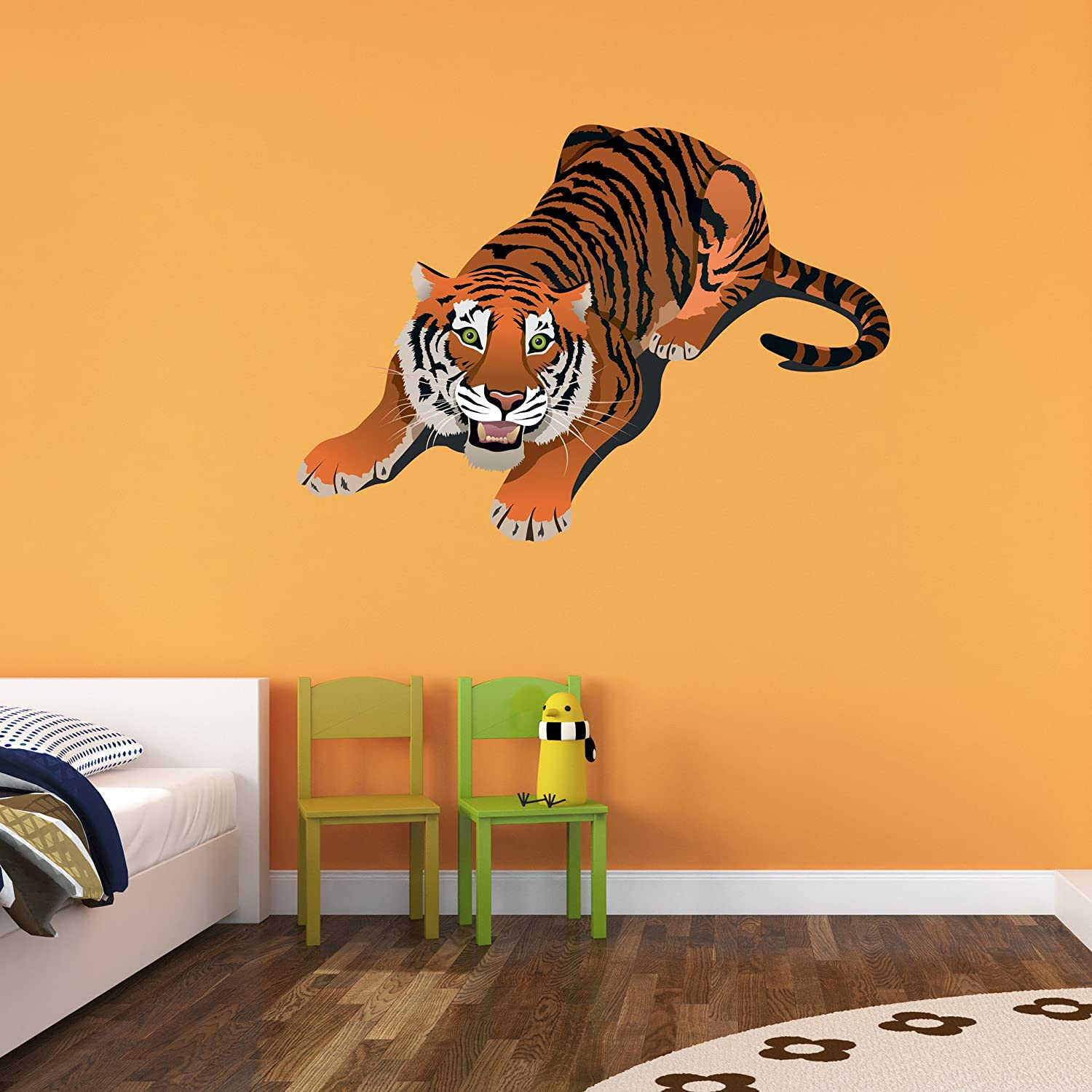 Amazon.com: Crouching Tiger Wall Decal by Style & Apply - Wall ...