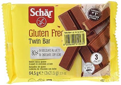 Dr. Schar 03430 - Twin Bar barritas chocolate, paquete de 3 x 21,