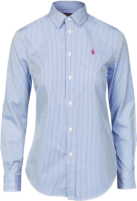 Ralph Lauren – Camisa Harper Rayas Azul/Blanco para Mujer Azul S: Amazon.es: Ropa y accesorios