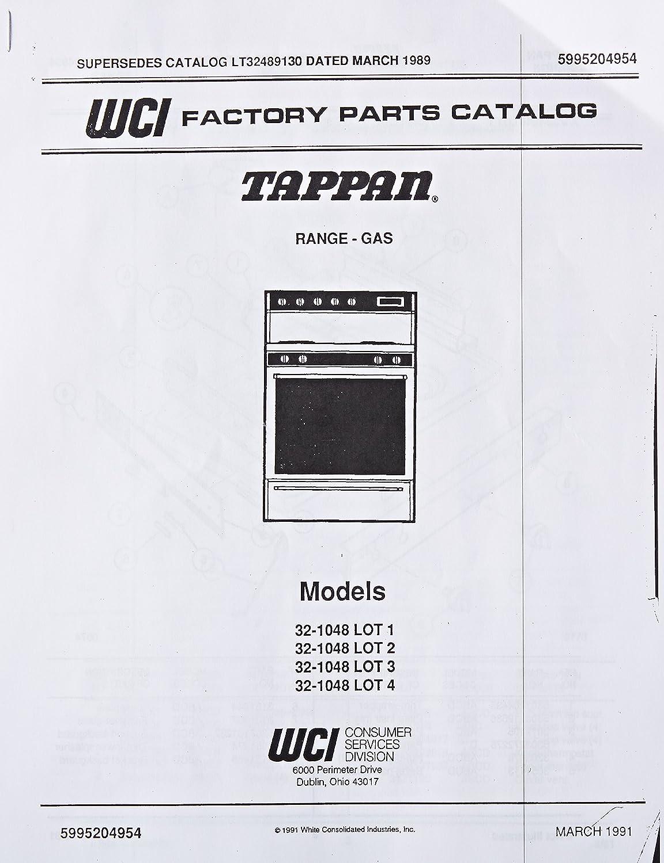 Frigidaire 5995204954 Range//Stove//Oven Parts Catalog