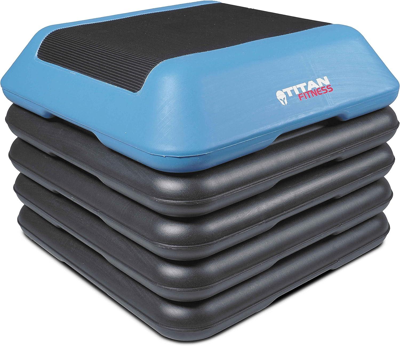 Titan Adjustable Aerobic Stepper 4 6 8 10 w Risers Gym Exercise Step 16 W