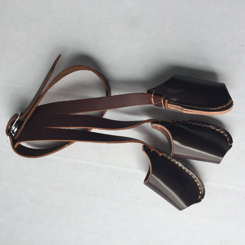 EW Bateman Cordovan Leather Archery Shooting Glove (Small)