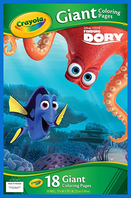Amazon Com Crayola Finding Dory Giant Coloring Pages Toys Games