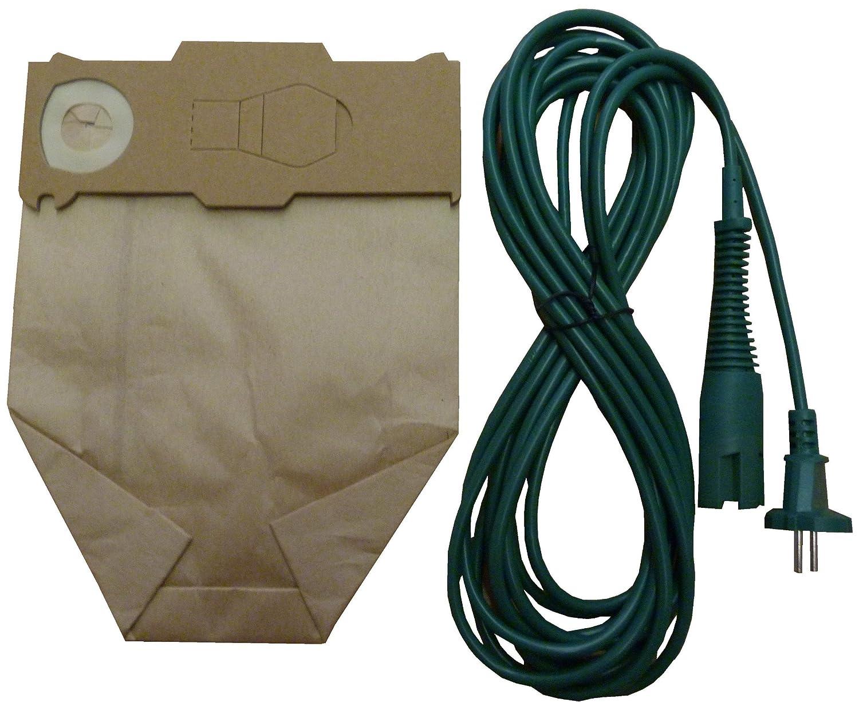 Acquisto Mister vac A916 – Set di 6 sacchetti per aspirapolvere + cavo per alimentazione, 7 m, per Vorwerk Folletto VK 130/131 Prezzo offerta