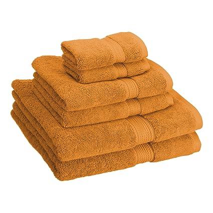 Famous Amazon.com: Superior 900 GSM Luxury Bathroom 6-Piece Towel Set  MJ92