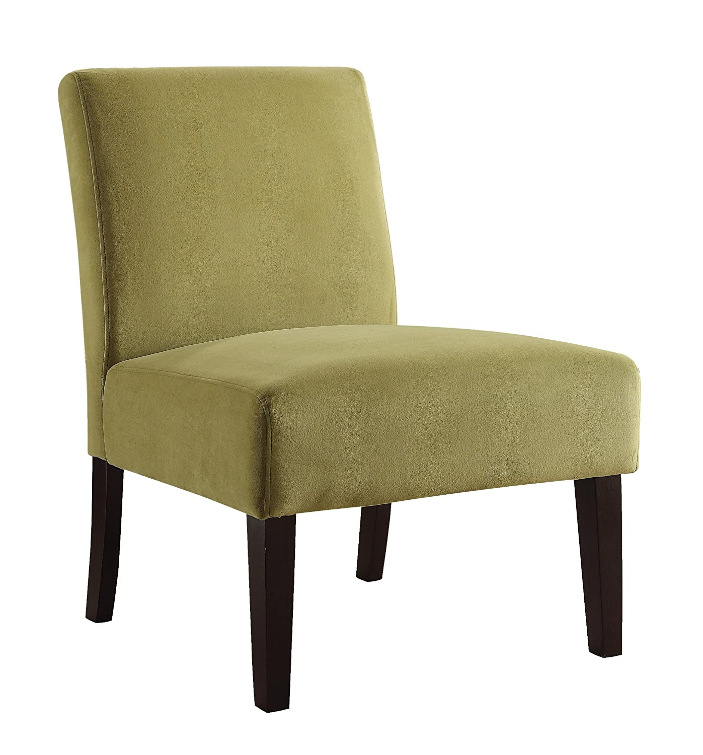 Amazon.com: AVE SIX Laguna Accent Chair With Espresso Finish Solid Wood  Legs, Oyster Velvet Fabric: Kitchen U0026 Dining