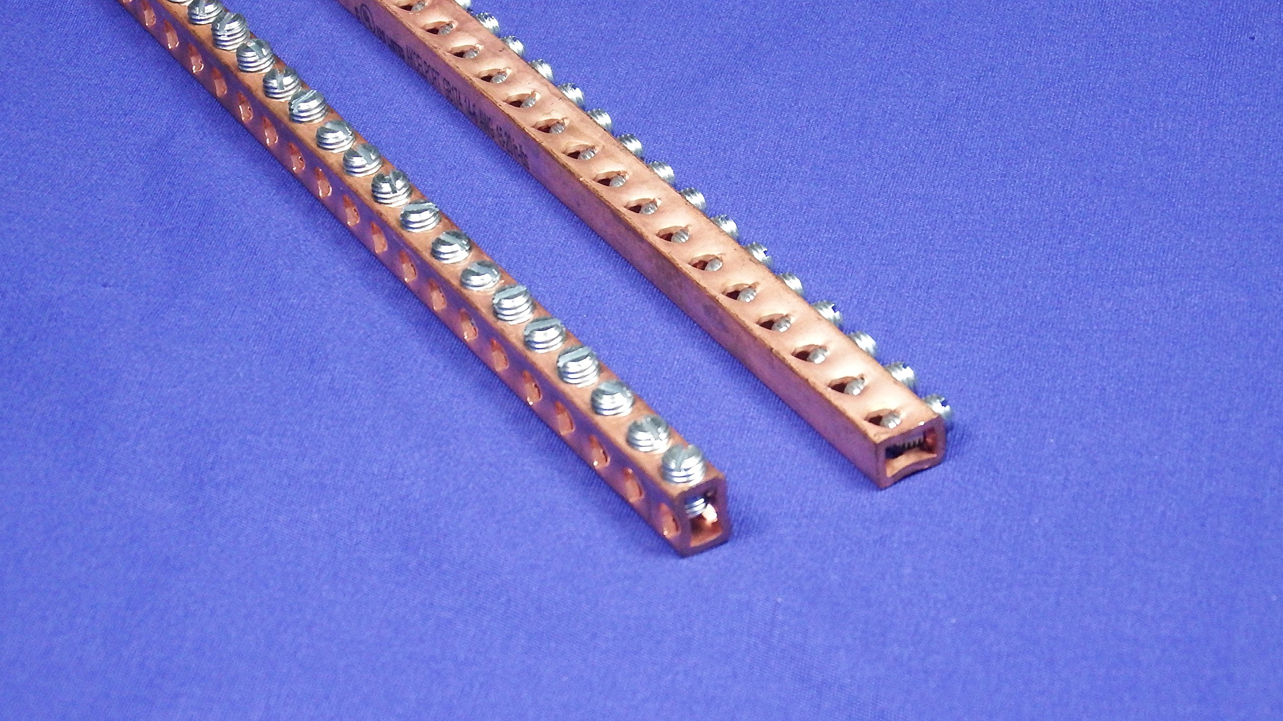 Copper Terminal Ground Bar Kit with Screws Included and Pre-Inserted - 69 Inch
