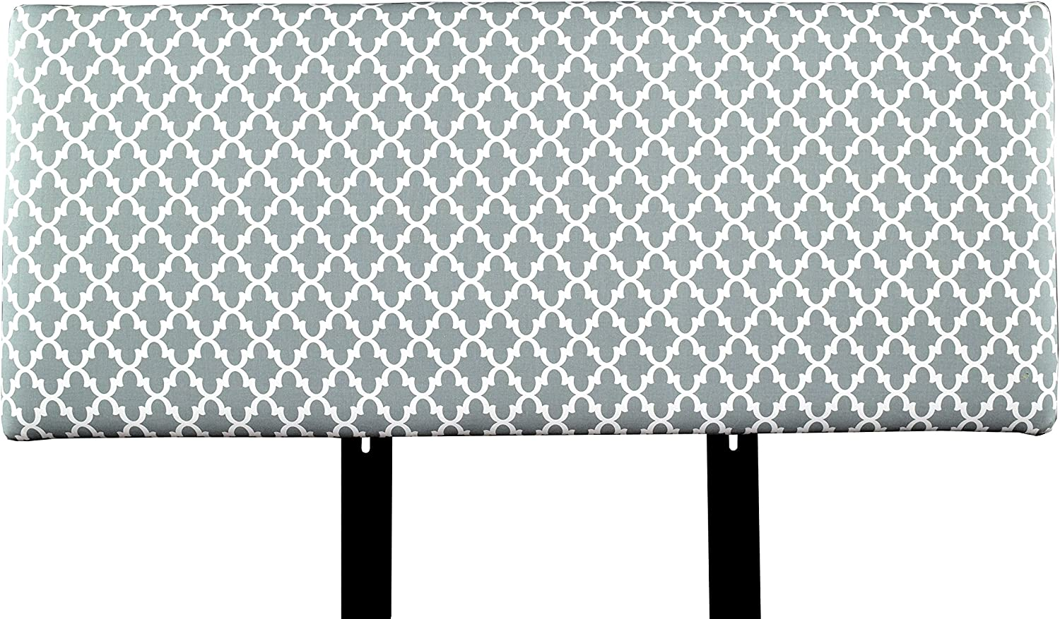 MJL Furniture Designs Alice Padded Bedroom Headboard Contemporary Styled Bedroom D cor, Fulton Series Headboard, Cool Gray Finish, Queen Sized, USA Made