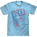 Tee Luv ICEE Polar Bear Logo T-Shirt - Soft Touch ICEE Faded Logo Shirt