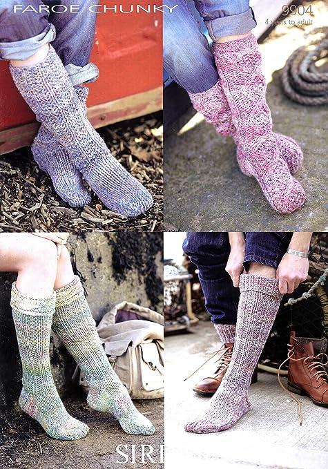 Sirdar Faroe Chunky 9904 Knitting Pattern Socks Amazon