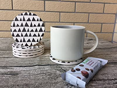 Absorbent Porcelain Coaster Set of 6