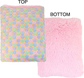 product image for BESSIE AND BARNIE Mesh Deluxe Ice Cream/Bubblegum Shag Pet Dog Durable Crate Pad
