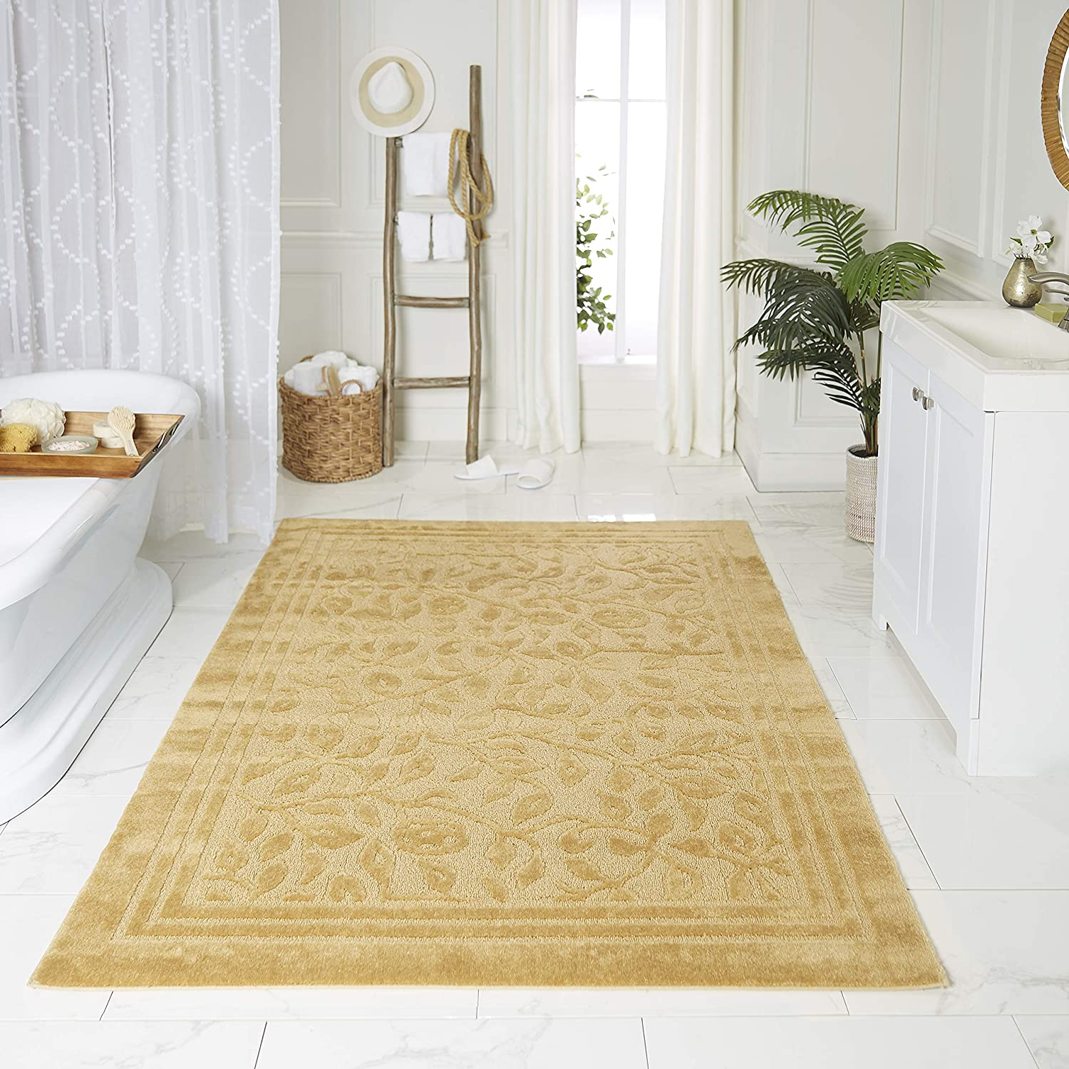 Better Homes and Gardens Thick and Plush Bath Rug Brown Basket 21X34 Free Ship