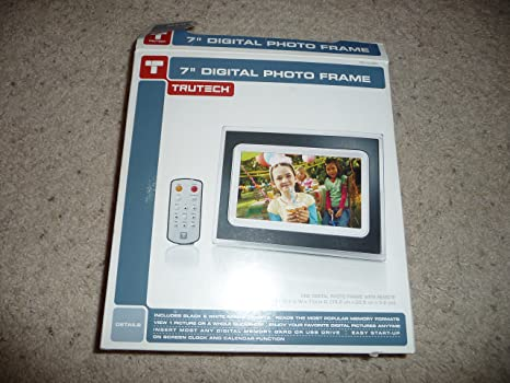 Amazon.com : TruTech 7-Inch Digital Photo Frame - Black/ White ...