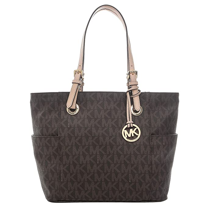 b84f73c10755 MICHAEL Michael Kors Signature Tote,Brown,one size: Amazon.ca ...
