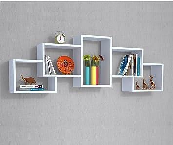 berril estantera de pared blanco estantera de madera estantera para libros para el
