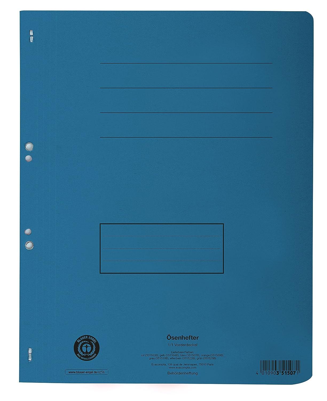 Exacompta 351600B Packung mit 50 /Ösenhefter, Vorderdeckel und Beschriftungsfeld, f/ür DIN A4, Recycling Papier farbig sortiert