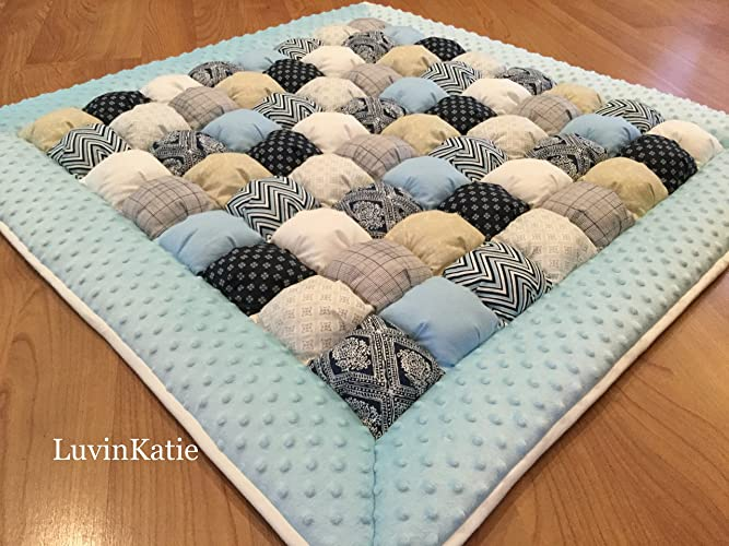 Amazon Baby Boy Bubble Puff Quilt Biscuit Quilt For Floor Time