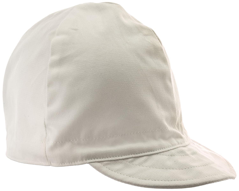 7 7//8 White 100/% Cotton Lapco Lap CW-7 7//8 4-Panel Welders Caps