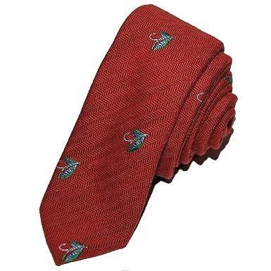 4eba46913dd0 TED BAKER London Mens Wool & Silk Slim Neck Tie Fly Fish Herringbone ...