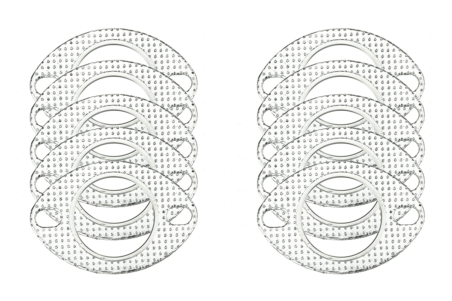 CarXX 2.75' Exhaust Gasket 2-Bolt 70mm Flange High Temperature Graphite for Headers, Catback, Axleback, Downpipe (2 Pack)