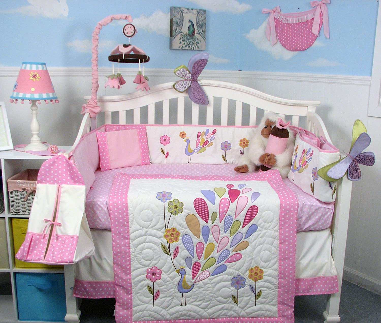 Owl baby bedding - Amazon Com Soho Gloria The Peacock Crib Nursery Bedding Set 14 Pcs Crib Bedding Sets For Girls Baby