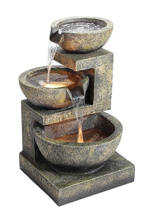 6 opinioni per Fontana Tre Conche Di Granito con luci