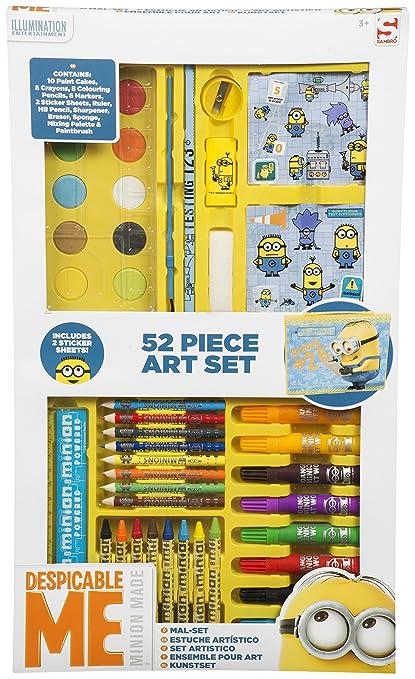 Amazon.com: Despicable Me Minions 52 Piece Art Case: Toys ...