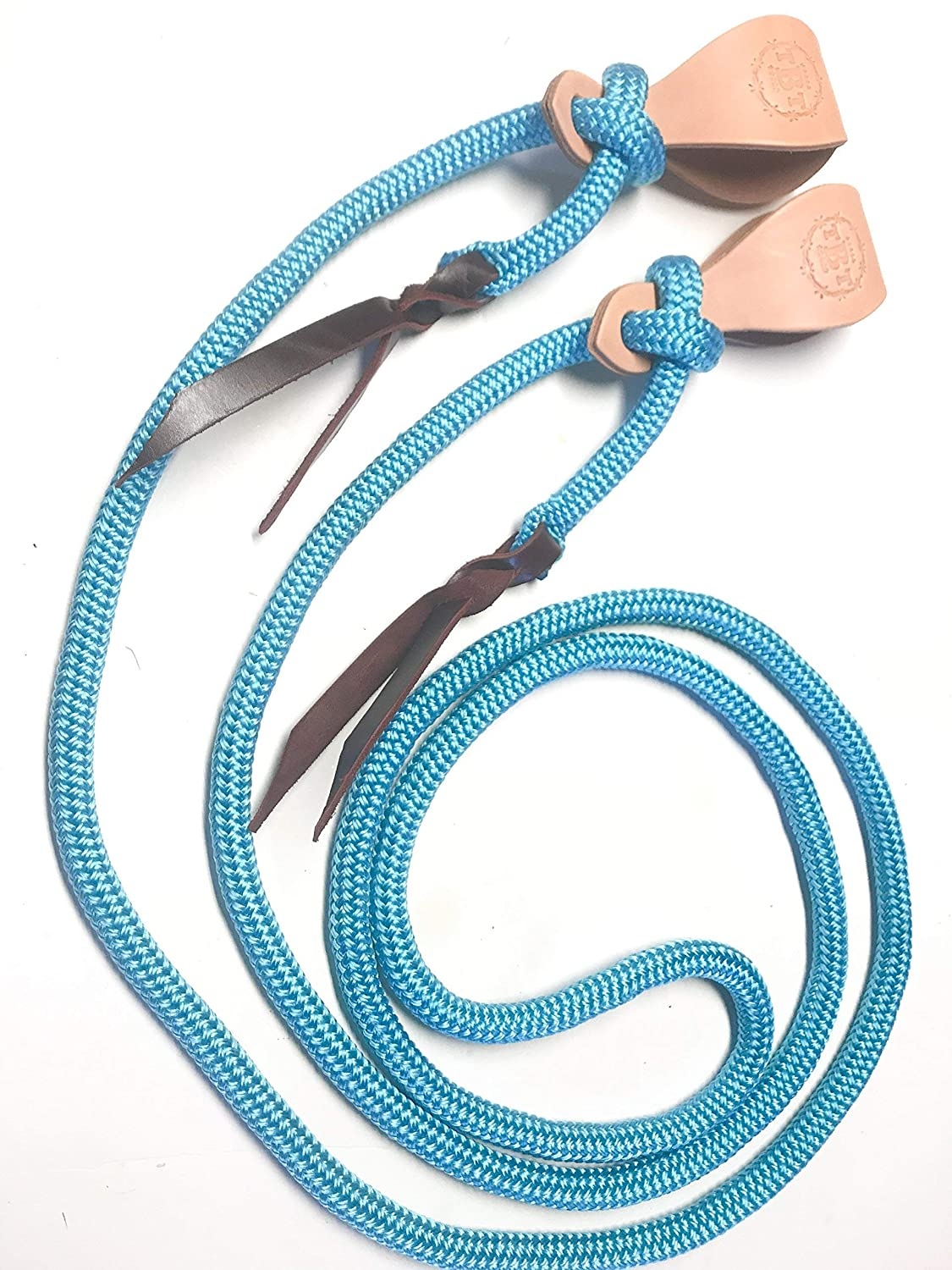slobber straps turquoise  rein Turquoise yacht rope mecate rein