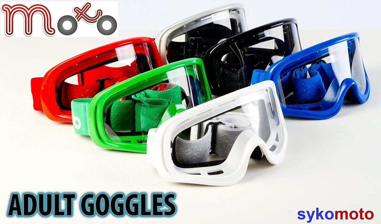 Moto, occhiali da adulto regolabili, per moto e quad, in silicone, con doppia imbottitura in schiuma, modello X1