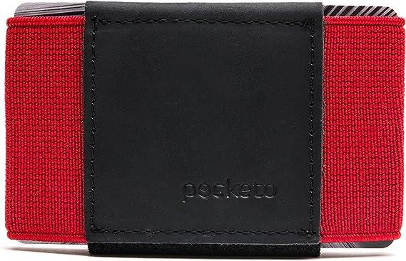 Minimalist Design Card Holder POCKETOCRAZY HORSE Leather Wallet