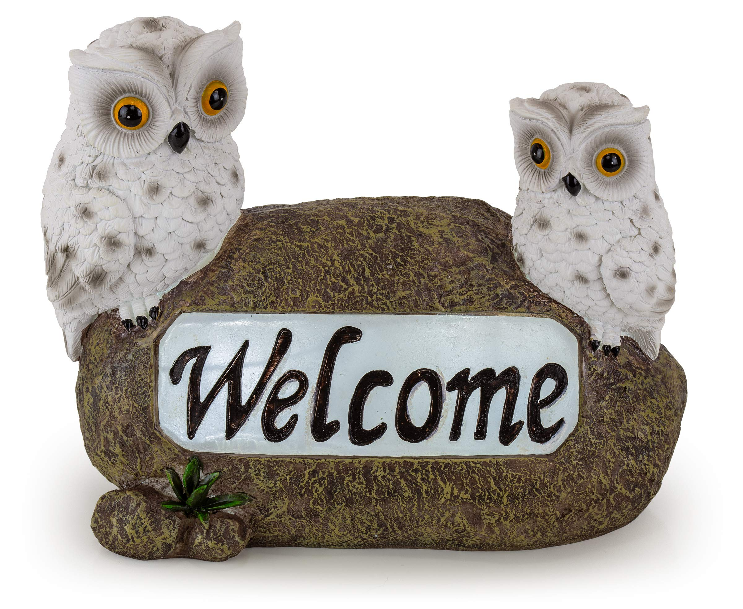 Welcome Owls Solar Garden Light