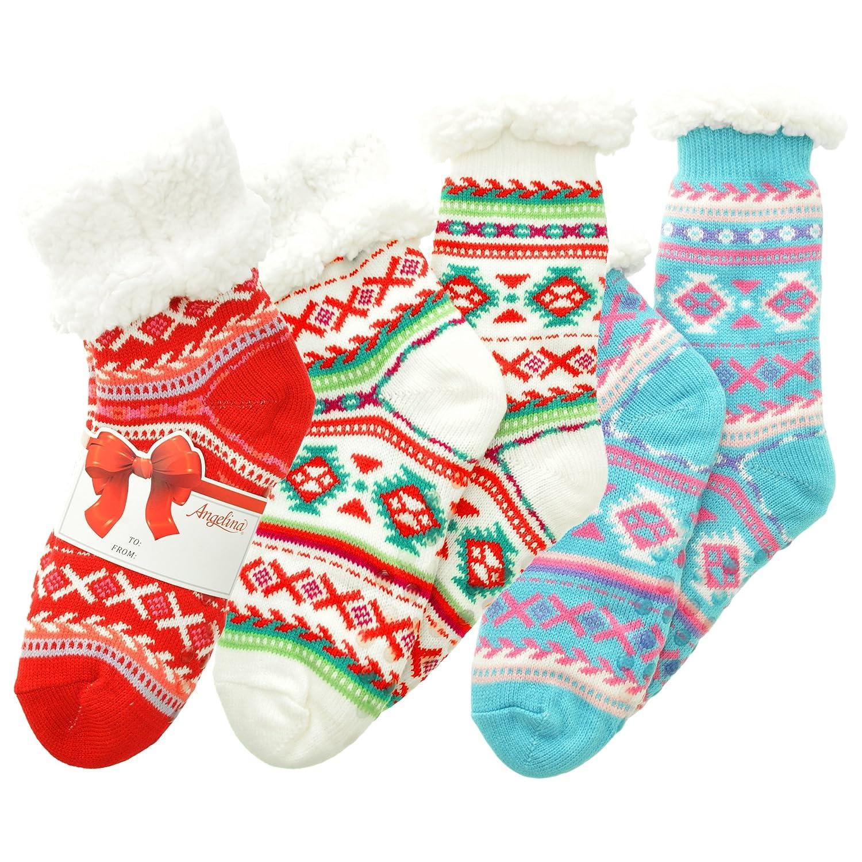 Angelina womens standard Sherpa-lined Thermal Socks WF_WinterCrew