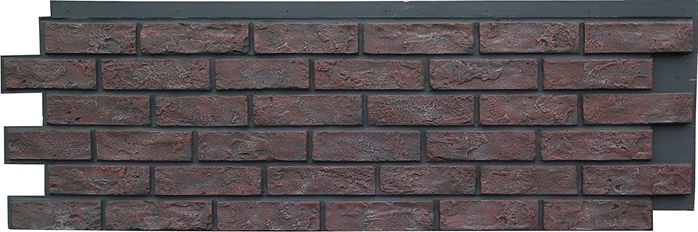 NextStone Polyurethane Faux Stone Panel - Brick - Antique Red (4 Panels per Box)