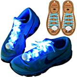 DAWAY Z02 LED Light Up Shoelaces - Nylon Glow Shoes Laces with 3 Flashing Modes Cool Safety Accessories for Party Dancing Hip-hop Cycling Running