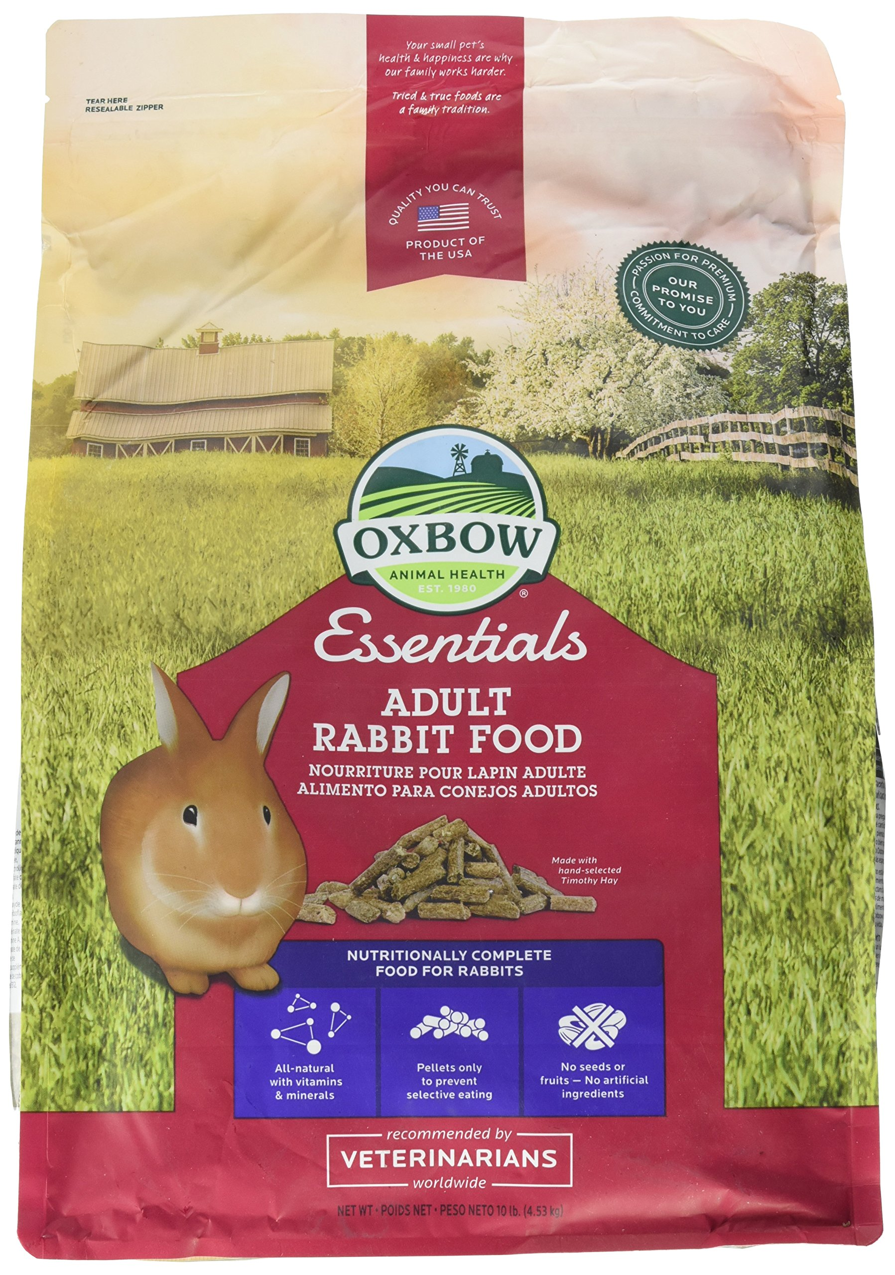 Oxbow Animal Health Bunny Basics Essentials Adult Rabbit Pet Food-10lbs