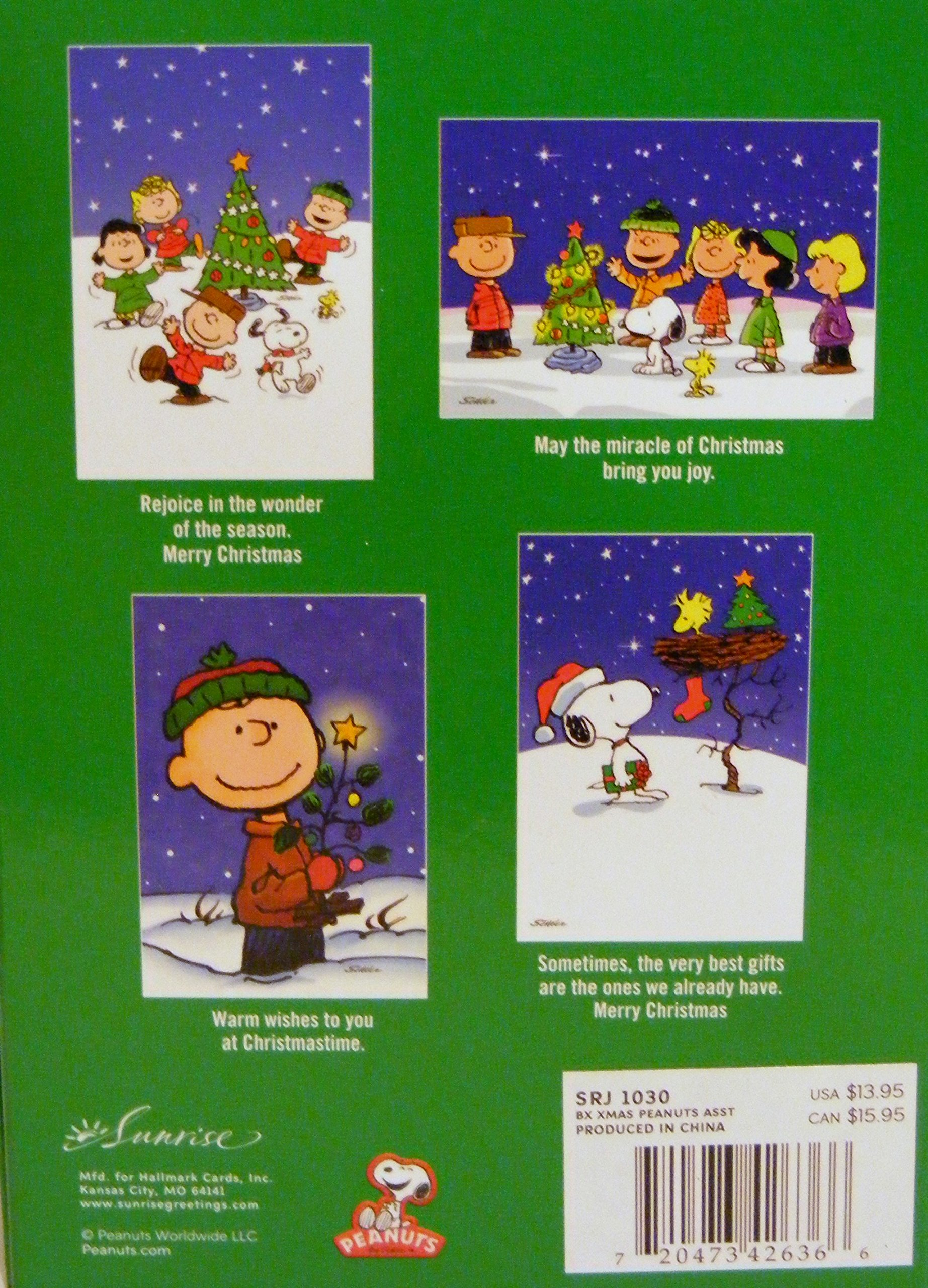 PEANUTS**Charlie Brown**Boxed Assortment of 18 Christmas Cards ...