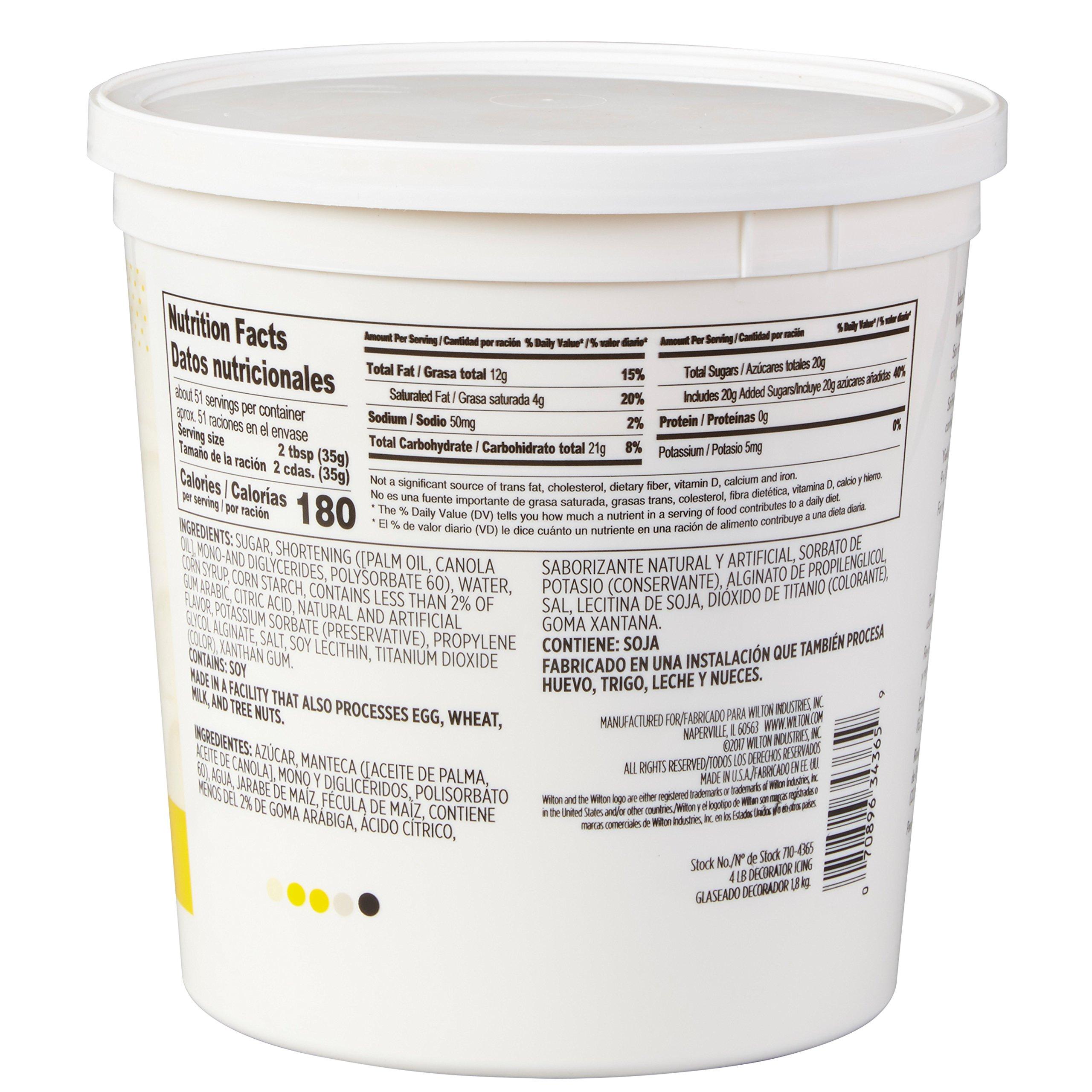 Wilton Creamy White Decorator Icing,Medium Consistency,4 lb. Tub, Cake Decorating Supplies by Wilton (Image #2)